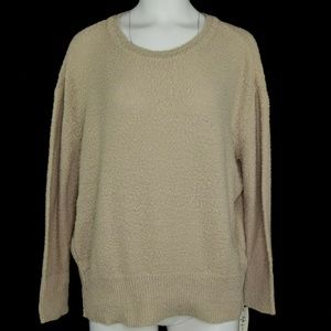 Style & Co Scoop Neck Ribbed Border Sweater S NWT